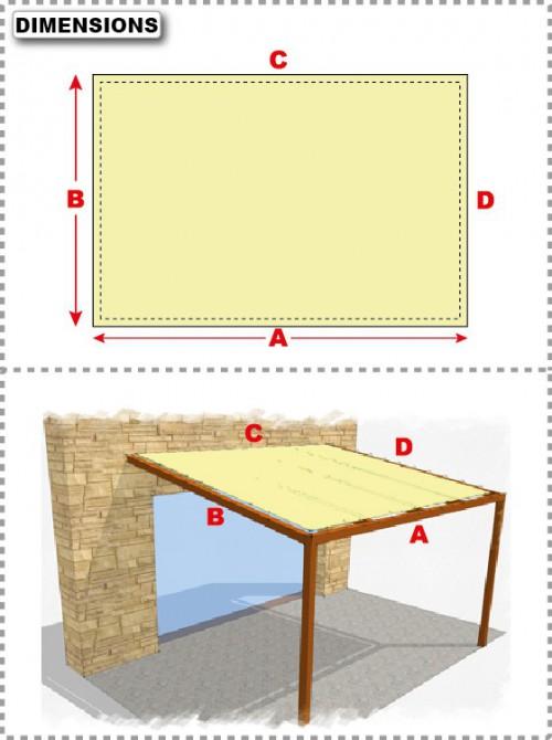 b che de pergola droite. Black Bedroom Furniture Sets. Home Design Ideas